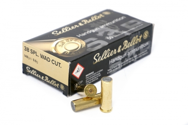Sellier&Bellot .38 Special 148 grs. WadCutter